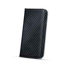 Tasche für Sony Xperia XA1 Book Style Quer Case Cover aufstellen Experia Carbon