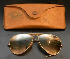 Vintage Early Ray Ban Outdoorsman Sunglasses with Case 1950s Aviator Wire Frame