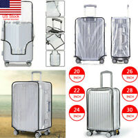 Waterproof Transparent Travel Protective Luggage Suitcase Cover Protector 20-30""