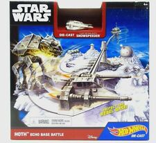 Star Wars Starship Hoth Echo Base Battle Play Set Snowspeeder Hot Wheels New