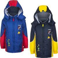 Boys Kids Children Super Mario Padded Hooded Winter Jacket Coat Age 3-8 Years