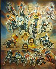 Vintage Motocross Artwork by Steve Voita, Maico, Husky, CZ, Penton, Bultaco,
