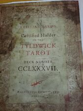 The Tyldwick Tarot with COA and #287 out of 2000