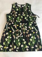 3X Plus Size Shift Dress Black w/ Flowers Sleeveless Victoria Beckham for Target