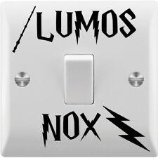 2 x Lumos NOX Harry Potter Inspiré Interrupteur De Lumière Mur Art Vinyle/Décalque/Autocollant