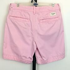 Abercrombie & Fitch AF Shorts Mens 28 Pink Button Fly Heavy 100% Cotton Classic