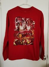 men's Cremieux shirt Medium red guitars long sleeve