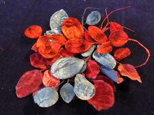 """Vintage Velvet Millinery Flower Collection 1 1/ 4-2"""" Red Blue Japan H2241"""