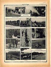 Tommy Tommies British Army Camp Observateur Télémètre Bataille Somme  1914 WWI