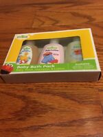 Sesame Street Baby Bath Pack Set Shampoo Lotion Grooming Travel Bottles Infants
