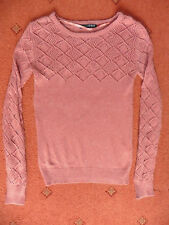 Women's Atmosphere Peach coloured long-sleeved Jumper, Size 8