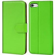 Book Case Apple iPhone 5 5S SE Hülle Klapphülle Handy Tasche Flip Cover Grün