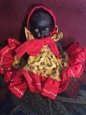 Vintage 1960's African American Black Biscuit Baby Doll