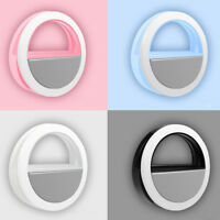Selfie LED Ring Fill Light Portable Rechargeable Camera Photography for iPhone
