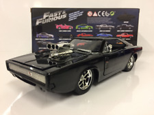 Fast And Furious Doms Dodge Cargador 1970 Negro 1:24 Escala Jada
