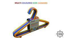 KIDS MULTICOLOURED PLASTIC HANGERS Child Baby Clothes Top Trousers Coat HangerUK