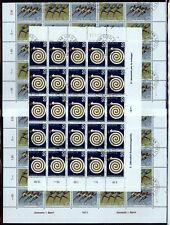 Bogenteile CH ET-Sonderstempel  auf 4 Seiten - auch noch Kehrdrucke dabe  (w870)