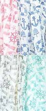 D8091. NAUTICAL print  Oblong Scarf Lot of 12 (3 each of 4 colors)