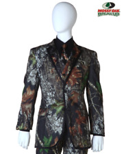 New Boy's Mossy Oak Camouflage Formal Suit Jacket Tux Camo Coat (Youth Size 4)