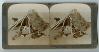 Navajo Indians Native Americans Arizona  Vintage Stereoview Photo