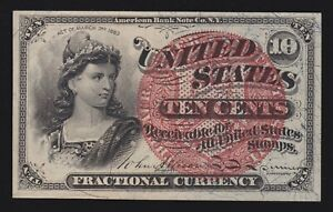 US 10c Fractional Currency 4th Issue FR 1261 Ch AU (-004)