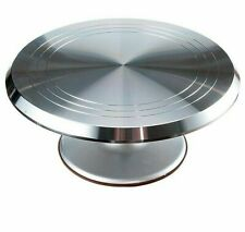 Turntable Rotating Cake Stand Stainless Steel Eco friendly Baking Tools Display