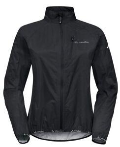 Vaude Wo Drop III size LARGE measured quality black bike sports jacket £95 RRP