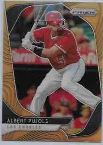2020 Prizm Albert Pujols Orange Wave Prizm Refracfor 081/100 Angels  RARE!
