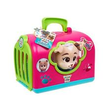 DISNEY JUNIOR PUPPY DOG PALS GROOM AND GO KEIA PLUSH AND CARRIER SET PINK GIRL