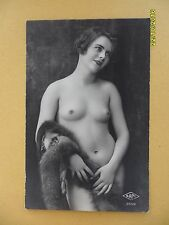 Original French 1910's-1920's Postcard Nude Risque Close Up Sexy Lady Beauty #66