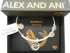 Alex and Ani Mermaid II Rafaelian Silver Bangle Bracelet NWTBC