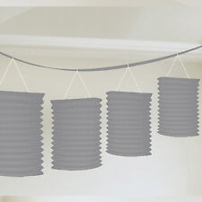 Silver Paper Lantern Garland 25th Wedding Anniversary Bunting Wedding Party