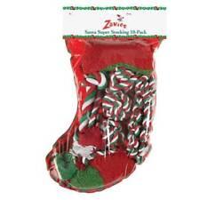 Zanies Santa's Super Dog Stocking 10 Pack Gift Christmas Holiday Toys Berber Tug