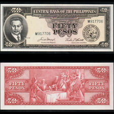 Philippines 1949-1969 50 Pesos flag scene of blood P138d Pick 138d UNC- Banknote