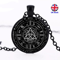 Unisex Pagan Wheel of the Year Pendant Necklace - UK Stock