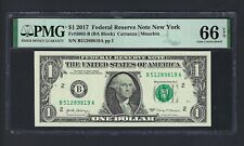 United State -Federal Reserve Note One Dollar 2017 Fr3003-B (BA Block) Grade 66