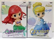 BANPRESTO Q POSKET DISNEY CHARACTERS SPECIAL COLOR vol.2 MERMAID & CINDERELLA