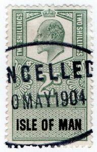 (I.B) Edward VII Revenue : Isle of Man 2/-