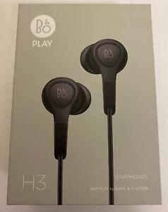 BANG & OLUFSEN B&O PLAY H3 2ND GENERATION IN EAR HEADPHONES EARPHONES BLACK