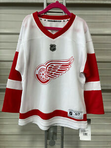 Detroit Red Wings Jersey - Youth 4/7 - White Version - Boys Girls Kids - NHL