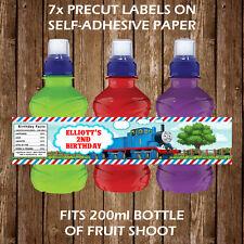 Personalised Thomas The Tank Engine Fruit Shoot Bottle Labels Children Favour