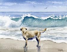 Labrador Retriever Art Print Lab Watercolor Signed by Artist DJ Rogers