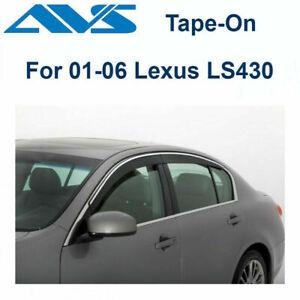 AVS Rain Guards 794006 Window Vent Visor Fit 2001-2006 Lexus Ls 430 |Tape-On