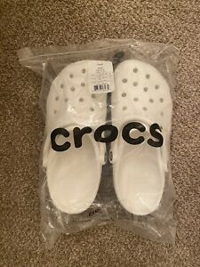 Crocs Unisex-Adult Men's and Women's Classic Clog Sandals, White, Free Shipping!