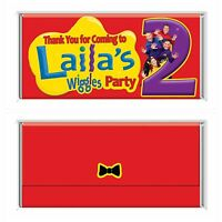 The Wiggles Personalised Chocolate Wrapper Gloss 4x6 to fit Aldi Bars