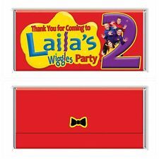 The Wiggles Personalised Chocolate Wrapper Gloss 4x6