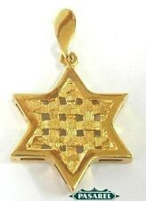 14k Yellow Gold Star of David Designer Pendant Judaica