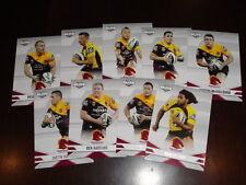 2013 NRL ELITE TEAM SET OF 9 CARDS BRISBANE BRONCOS