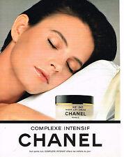 PUBLICITE ADVERTISING 034  1992   CHANEL   cosmétiques nuit