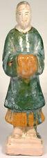15thC Antique Ming China Glazed Multi-Color Sancai Statuette Personal Attendant